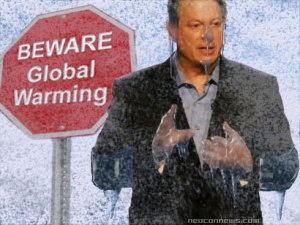 Gore lecturing on how hot things are getting