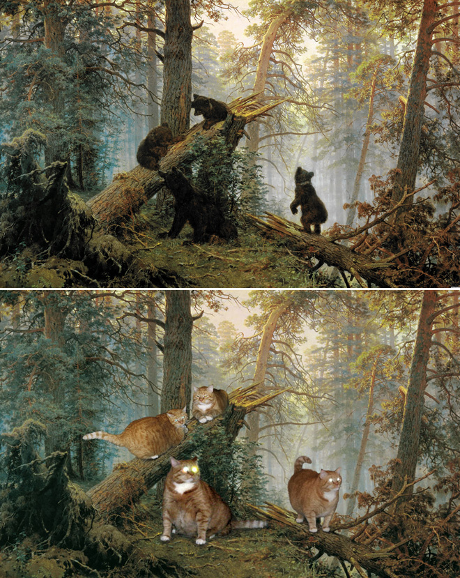 """Famous Paintings Improved By Cats"""" » forestFamous Forest Paintings"""