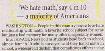 War on Math